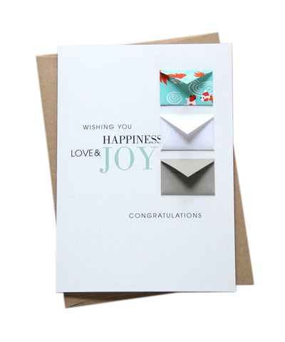 Congratulations Goldfish - Tiny Envelope Card