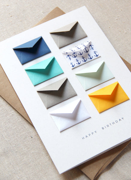 Happy Birthday Nautical - Tiny Envelope Card
