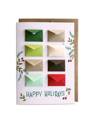 Holiday Tinsel and Berries Tiny Envelopes Card