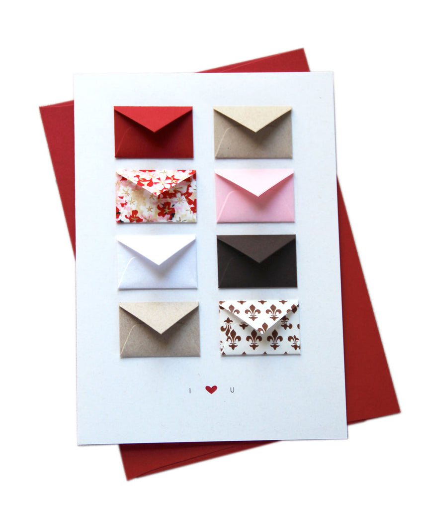 Mini I love You Card with envelope