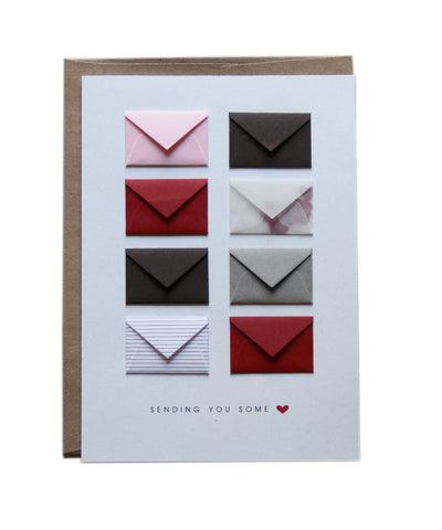 Sending You Love - Tiny Envelope Card