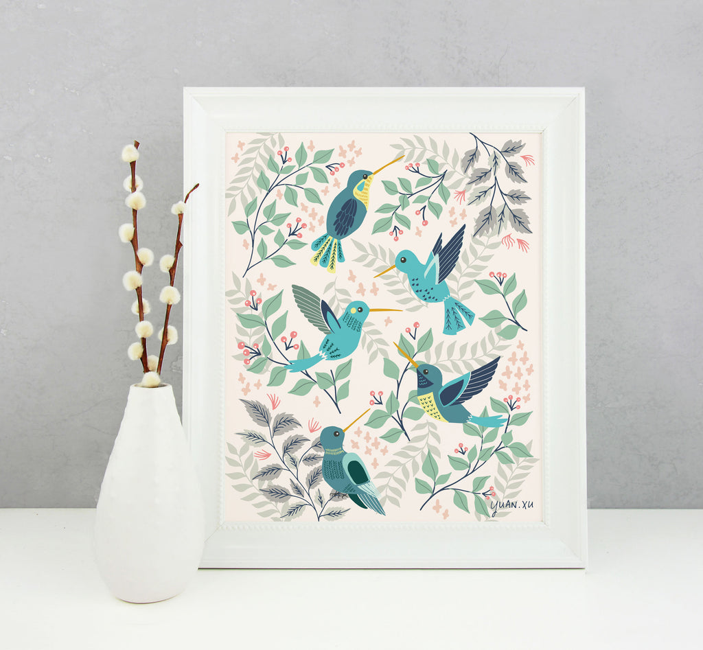 Hummingbirds - Art Print
