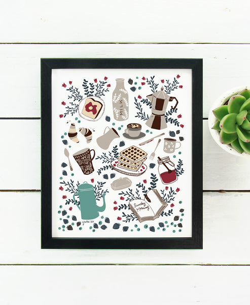 Sunday Brunch - Art Print