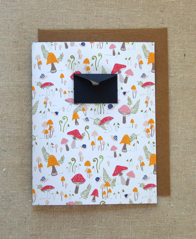 8 Folded Cards Box Set - Blank Cards:Mushroom Forest