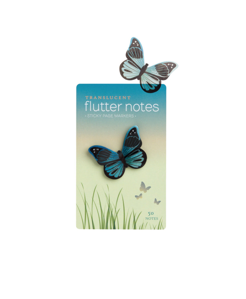 Blue Translucent Butterfly Sticky Notes