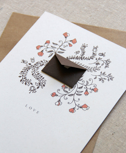 Love Vines Valentine's Day - Tiny Envelope Card