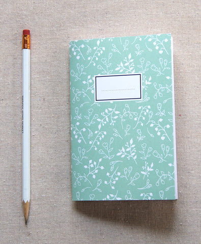 Mini Journal - Mint Vines