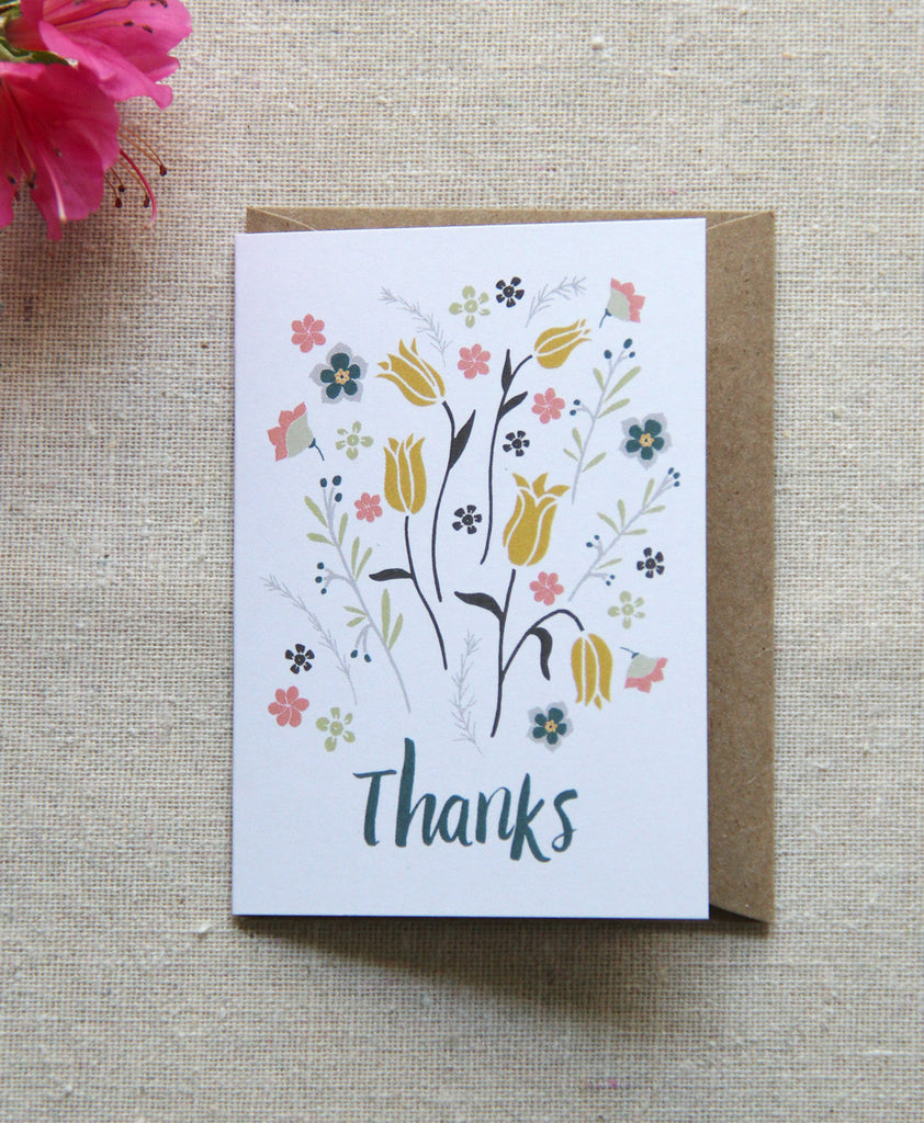 Mini Notes - Thanks Bouquet