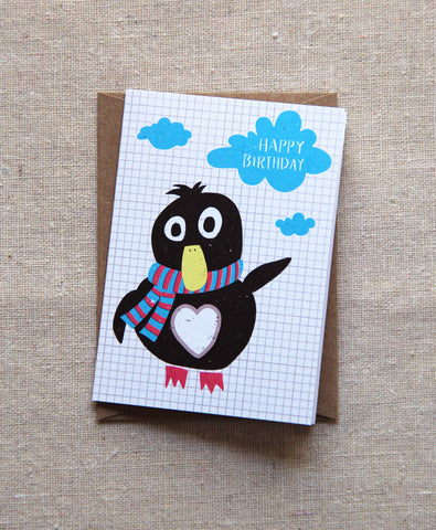 Mini Notes - Penguin Happy Birthday