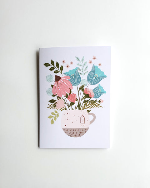 Mug of Flowers - Mother's Day Card