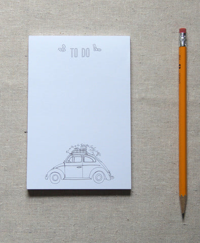 Notepad - Car and tree
