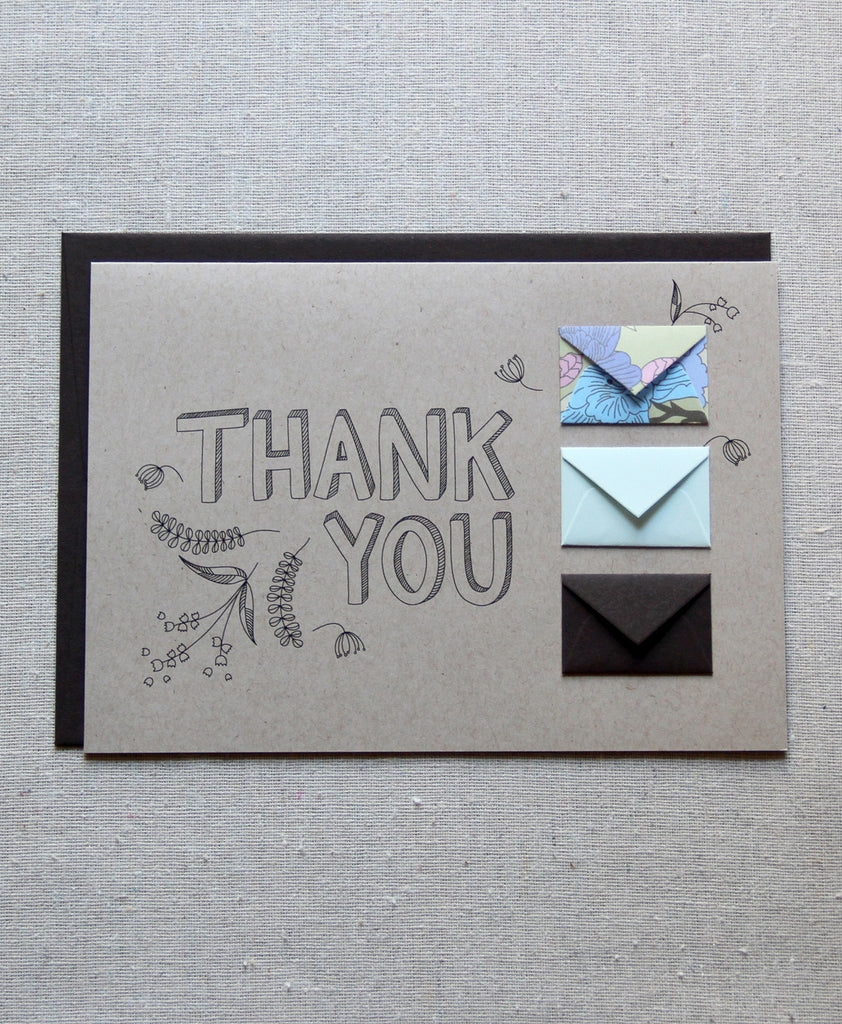 Thank You Botanicals - Tiny Envelope Card