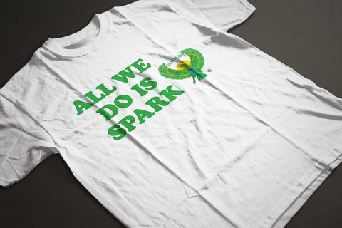 """All We Do Is Spark"" MAD IZM T-shirt"