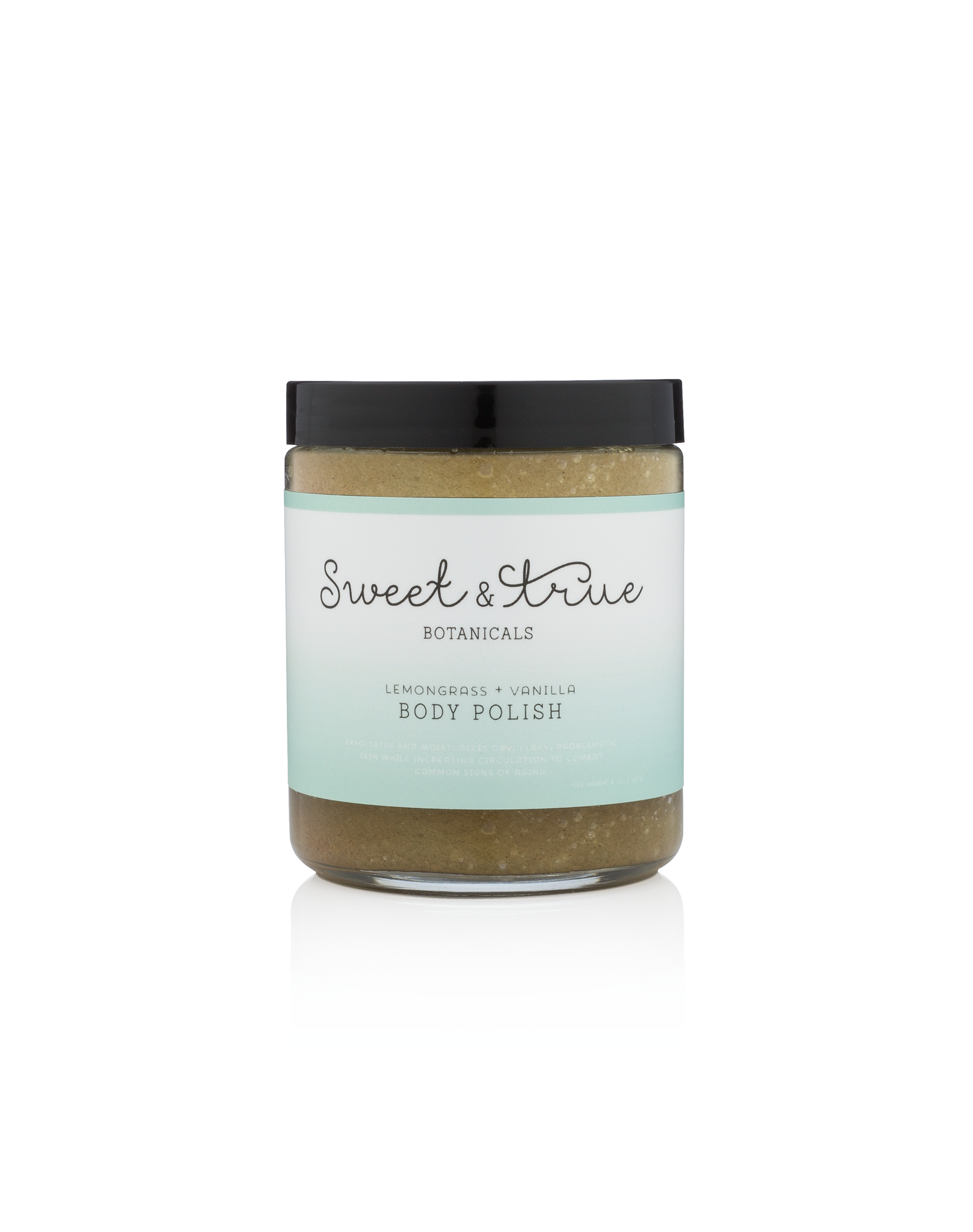 Lemongrass & Vanilla Body Polish sugar scrub by Sweet and True Sugaring