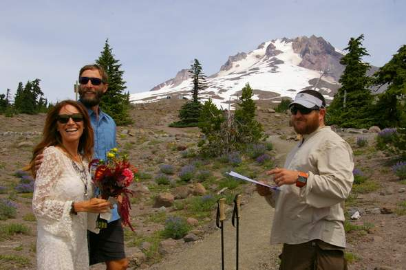 wedding on the PCT