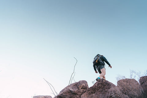 Man Hiking with our Ultralight Backpack
