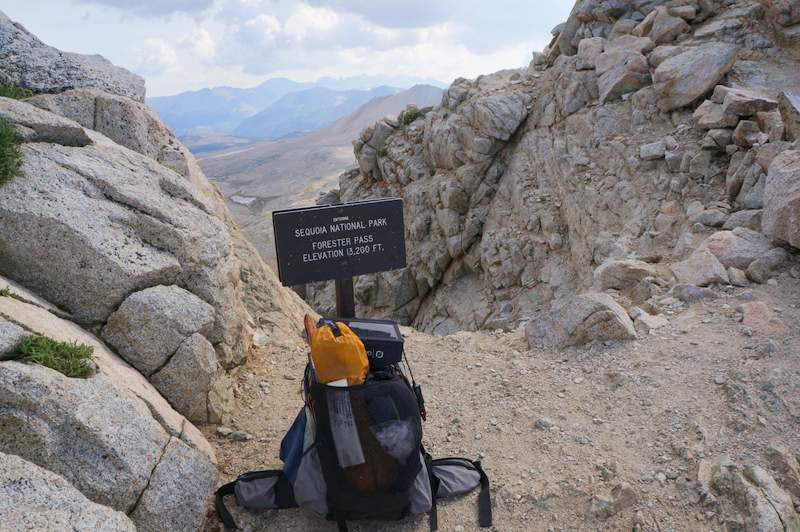 JMT backpacking gear list