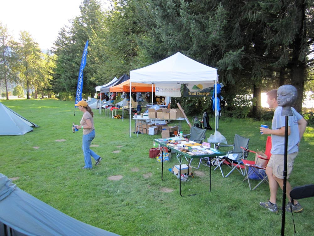 PCT Cascade Locks booth