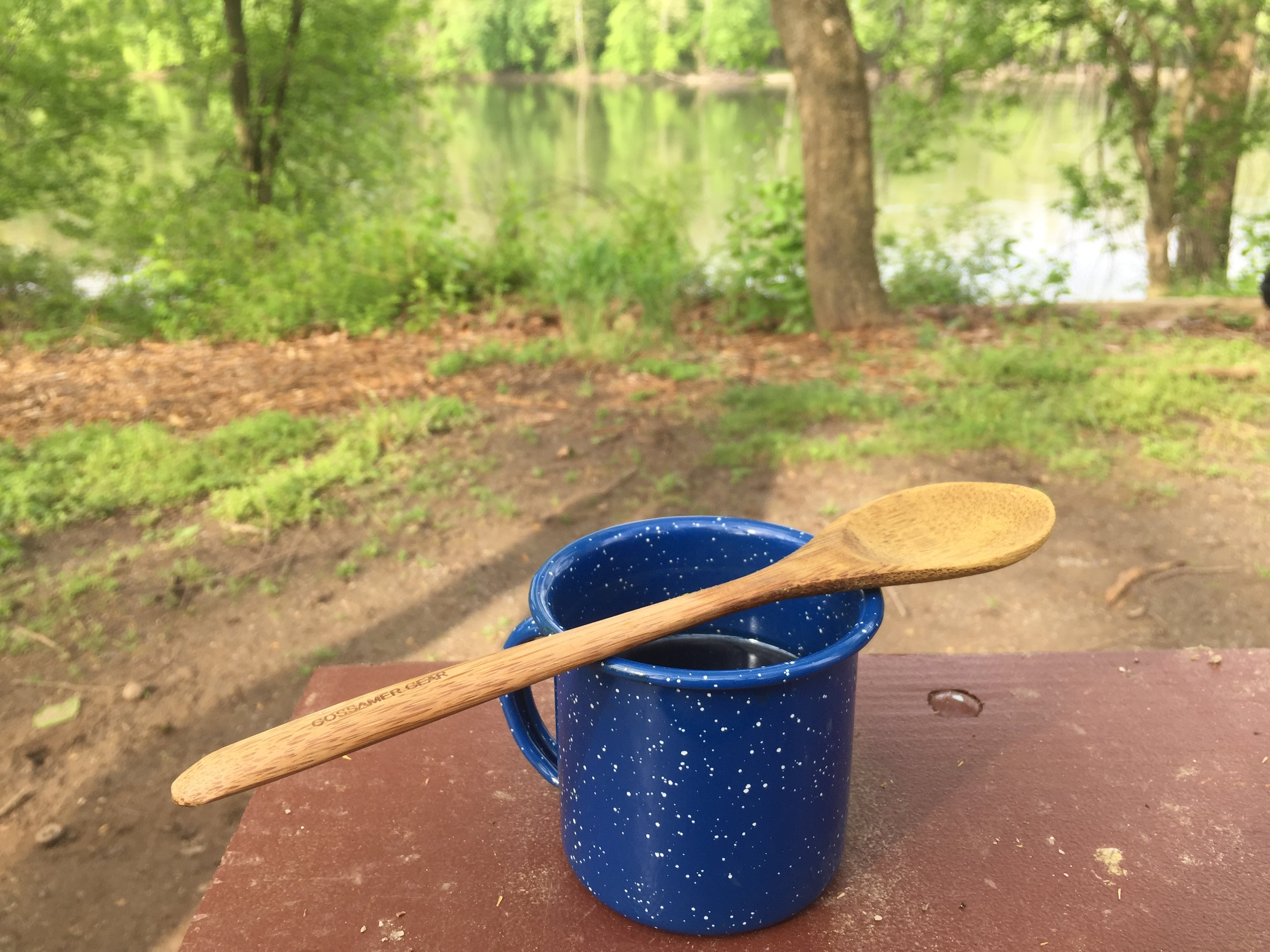 Bamboo Spoon By River