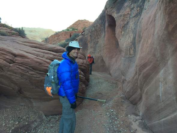 Backpacking Buckskin Gulch