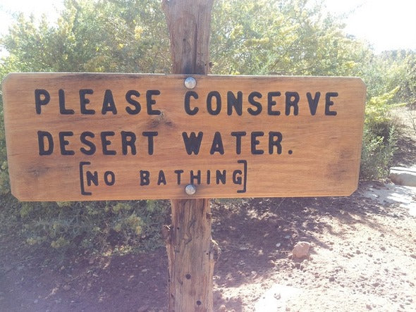 desert water sign