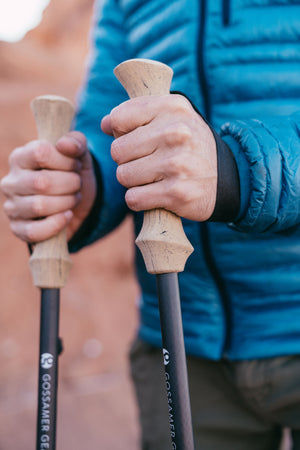 LT5 Three Piece Carbon Trekking Poles (pair)