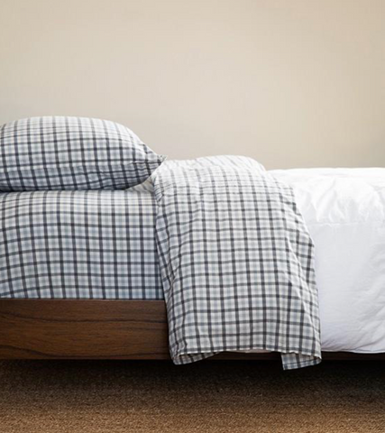 Cimino Sheet Set - Ash Grey Gingham