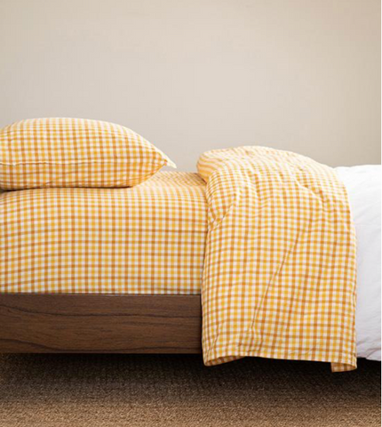 Cimino Sheet Set - Flax Gingham