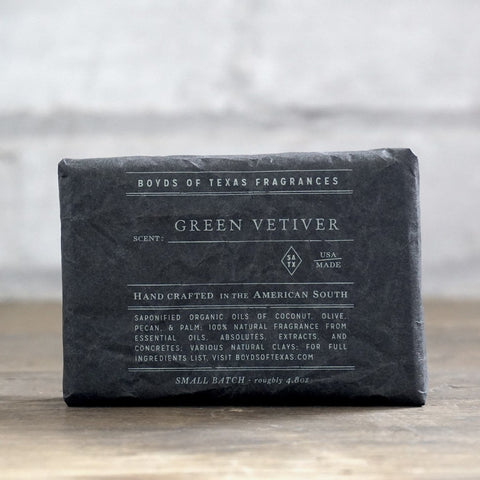 Boyd's Charcoal Soap - Green Vetiver