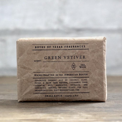Boyd's Natural Bar Soap - Green Vetiver