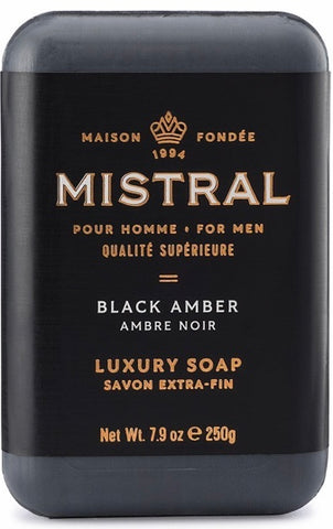 Mistral Bar Soap - Black Amber