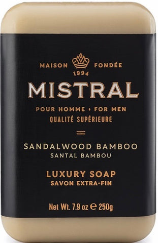 Mistral Bar Soap - Sandalwood Bamboo