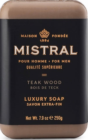Mistral Bar Soap - Teak Wood