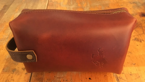 High Line Large Leather Dopp Kit
