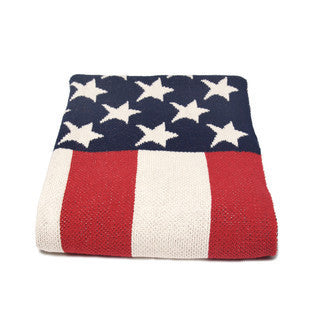 US Flag Throw Blanket