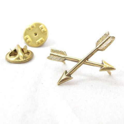 Crossed Golden Arrow Tack Pin
