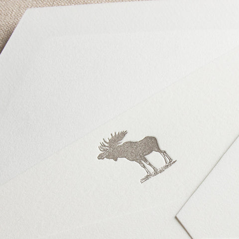Letterpress Moose Cards
