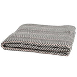 Eco Poly Herringbone Pinstripe Throw