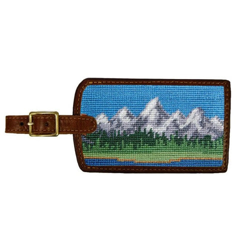 Teton Needlepoint Luggage Tag