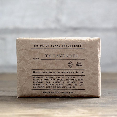 Boyd's Natural Bar Soap - TX Lavender