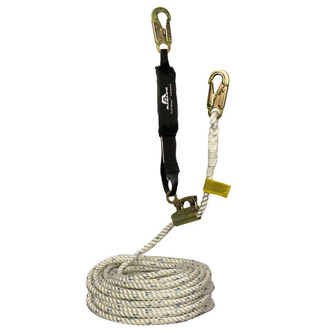 Madaco Roofer rope and lanyard set  30FT shockpack and Grab Kit