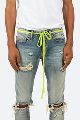 Drawcord Belt - Lime - mnml