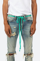 Drawcord Belt - Teal - mnml