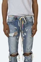 Tie Dye Drawcord Belt - Multi - mnml