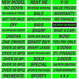 15 inch Long Chartreuse Adhesive Sign {EZ115}, Slogans - Auto Apparel