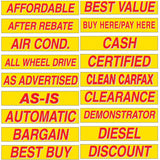 15 inch Red & Yellow Sign {EZ132}, Slogans - Auto Apparel