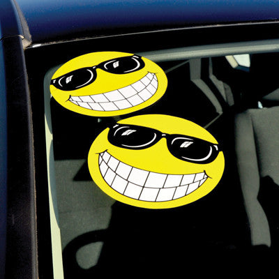 E-Z Happy Face with Sunglasses {EZ150}, Die Cut Adhesives - Auto Apparel