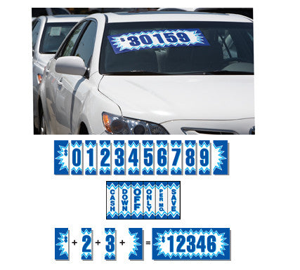 "Blue Explosion Number {EZ170}, 11 1/2"" Adhesive Numbers - Auto Apparel"