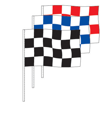 Poly Checkered Rectangle Antenna Flag {EZ341}, Checkered Products - Auto Apparel