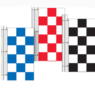 3' x 5' Vertical Checkered Flag {EZ342-V}, Checkered Products - Auto Apparel